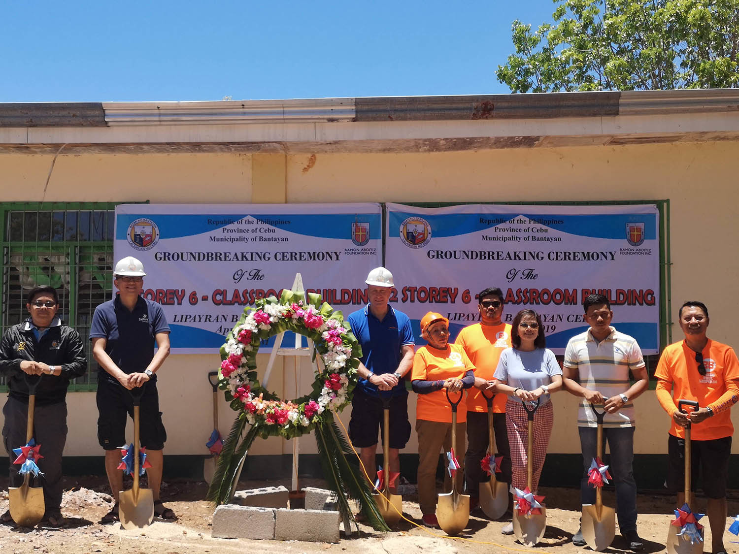 Last month saw the ground-breaking ceremony for the school build, which will transform the lives of Lipayran school pupils