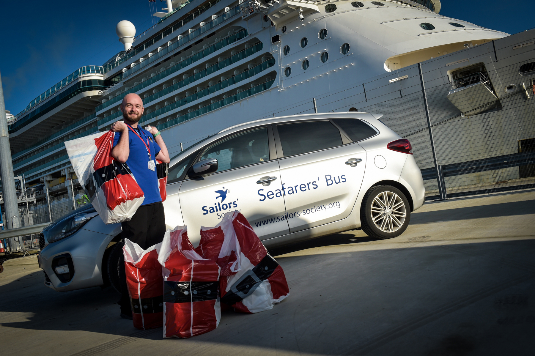 SANTA OF THE SEA DELIVERS CHRISTMAS TO CRUISE WORKERS LOCKED DOWN AT SEA